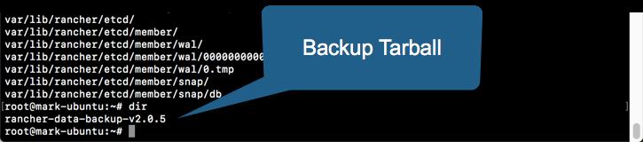 Backup Backup Tarball