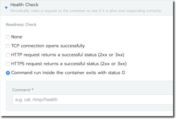 Healthcheck Execute Command