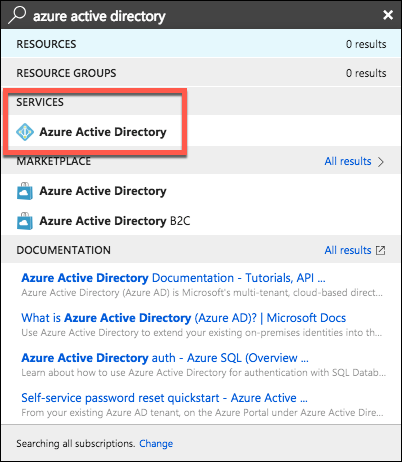 Open Azure Active Directory