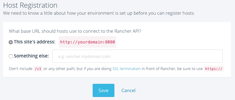 Host Registration on Rancher 1